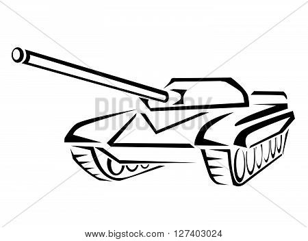 Army Tank .eps10 editable vector illustration design