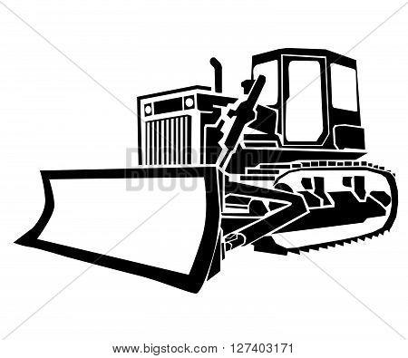 Bulldozer .Eps 10 editable vector Illustration design