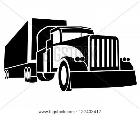 Truck Symbol .Eps 10 editable vector Illustration design