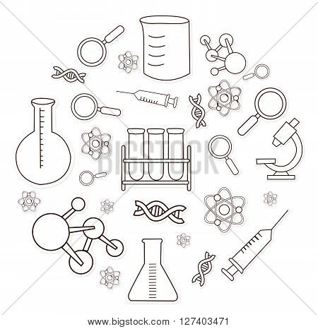 Bio Technology Object Hand Drawn Sketch Doodle .eps10 editable vector illustration design