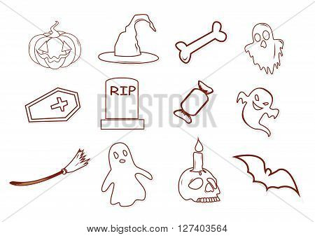 Halloween Design Object .eps10 editable vector illustration design