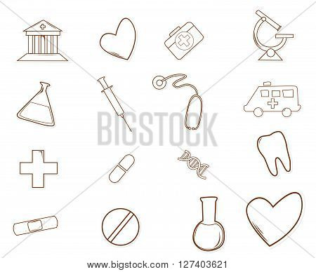 Medical Icon .eps10 editable vector illustration design