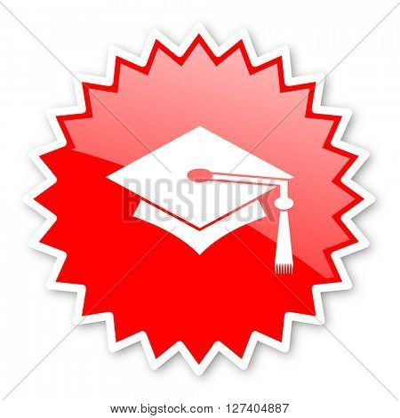 education red tag, sticker, label, star, stamp, banner, advertising, badge, emblem, web icon