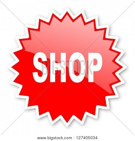 shop red tag, sticker, label, star, stamp, banner, advertising, badge, emblem, web icon