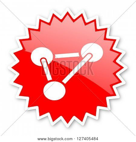 chemistry red tag, sticker, label, star, stamp, banner, advertising, badge, emblem, web icon