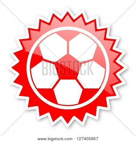 soccer red tag, sticker, label, star, stamp, banner, advertising, badge, emblem, web icon