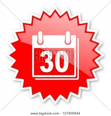 calendar red tag, sticker, label, star, stamp, banner, advertising, badge, emblem, web icon