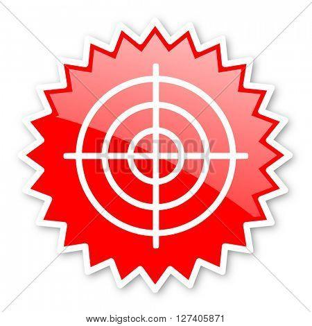 target red tag, sticker, label, star, stamp, banner, advertising, badge, emblem, web icon