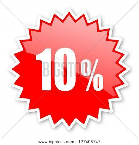 10 percent red tag, sticker, label, star, stamp, banner, advertising, badge, emblem, web icon