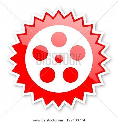 film red tag, sticker, label, star, stamp, banner, advertising, badge, emblem, web icon