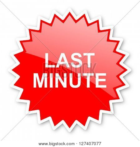 last minute red tag, sticker, label, star, stamp, banner, advertising, badge, emblem, web icon