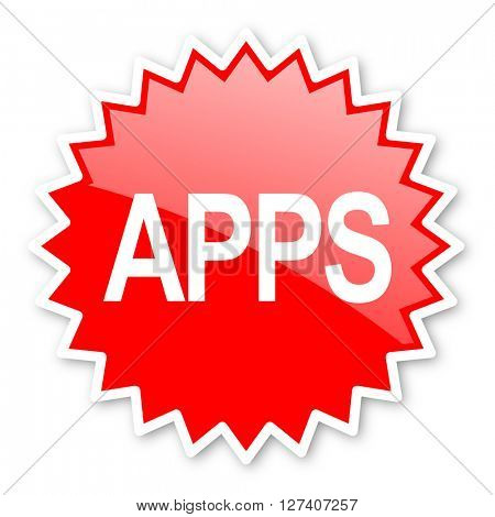 apps red tag, sticker, label, star, stamp, banner, advertising, badge, emblem, web icon