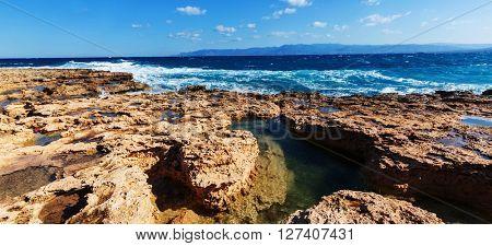 Beautiful sea shore in Cyprus
