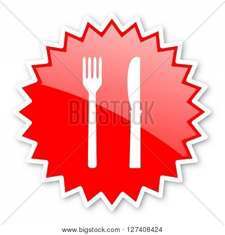 eat red tag, sticker, label, star, stamp, banner, advertising, badge, emblem, web icon
