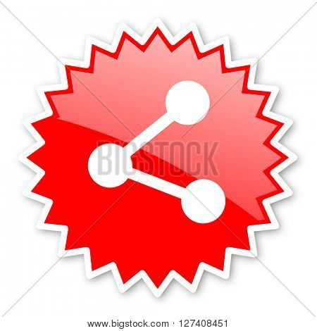 share red tag, sticker, label, star, stamp, banner, advertising, badge, emblem, web icon