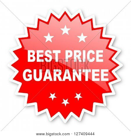 best price guarantee red tag, sticker, label, star, stamp, banner, advertising, badge, emblem, web icon