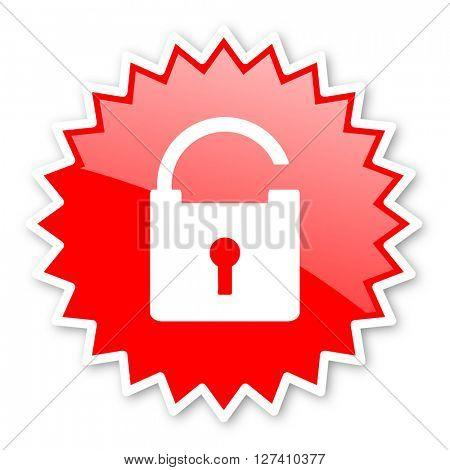 padlock red tag, sticker, label, star, stamp, banner, advertising, badge, emblem, web icon