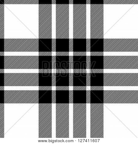 clan cameron tartan seamless background black and white vector illustration