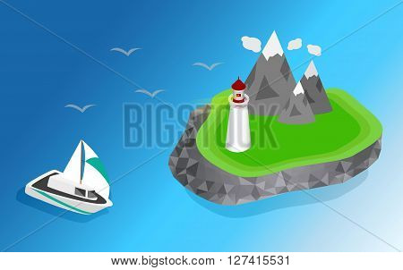 Light house Lighthouse Icon building Lighthouse maritime Lighthouse navigational guidance Lighthouse Image Lighthouse isometric Lighthouse Sign Lighthouse Flat Lighthouse design Lighthouse sea. ships sailing to the lighthouse