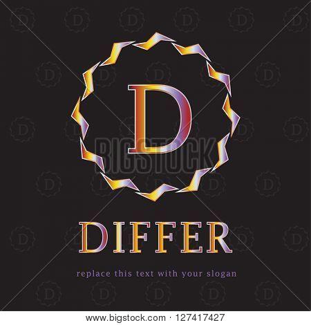 GOLD & SILVER MONOGRAM D , LUXURY LOGO / ICON DESIGN
