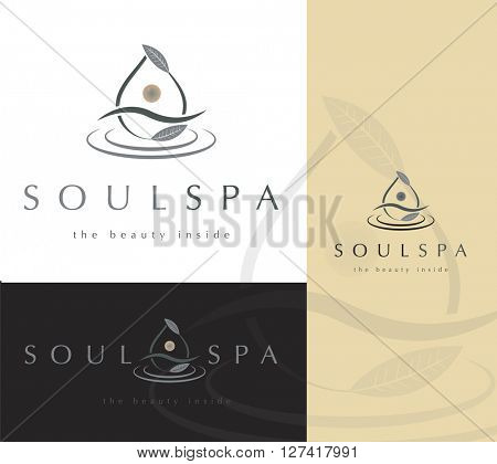 Beautiful premium logo / icon design for anything related to meditation , spa, beauty and natural products or medicine