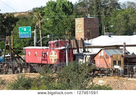 Kingman,Arizona,USA - August 17, 2010 : Outdoor of the Mohave Museum of History and Arts in Kingman
