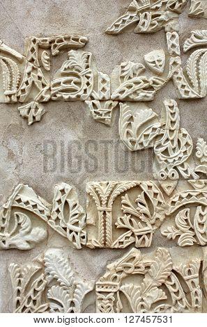 Ataurique of the ruins of Madinat al-Zahra in Cordoba - Spain