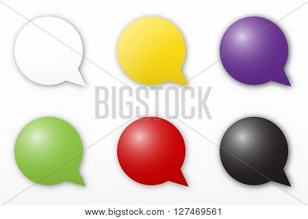 the blank color speech bubble collection with subtle shadow
