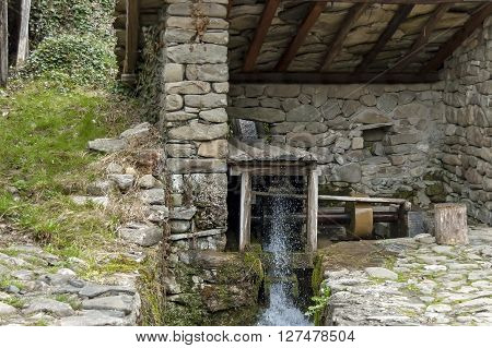 Workshop with whetstone and mill-wheel, Ether, Gabrovo, Bulgaria