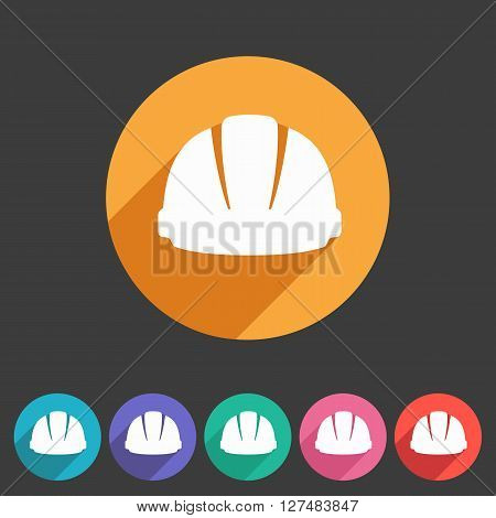 helmet constrction hard hat icon web sign symbol logo label set