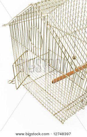 Empty Bird Cage With Opened Door