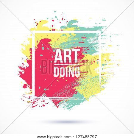 Vector watercolor background. Colorful abstract texture. Vector design elements. Artistic background. Vector watercolor spot