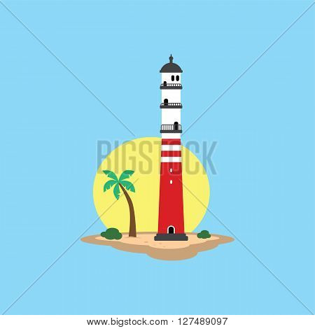 Beach Lighthouse Seashore View