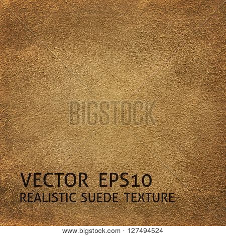 Closeup beige suede texture realistic vector background