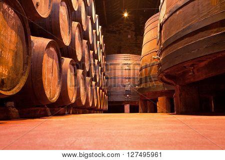 Oak Port Wine Barrels, Vila Nova de Gaia, Porto