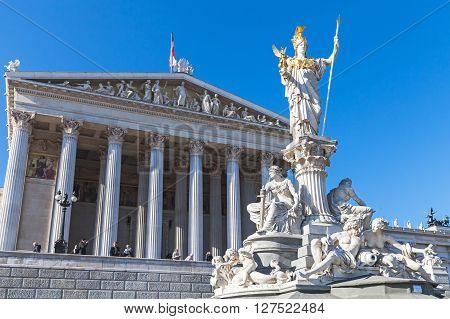 Pallas Athene Fountain Located In Vienna