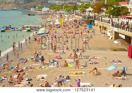 Crimea Beach In The Summer