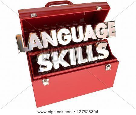 Language Skills Tools Toolbox Communication Foreign Translation