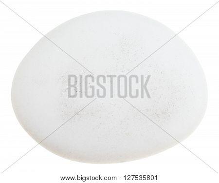 Pebble Of Cacholong (white Opal) Gemstone Isolated