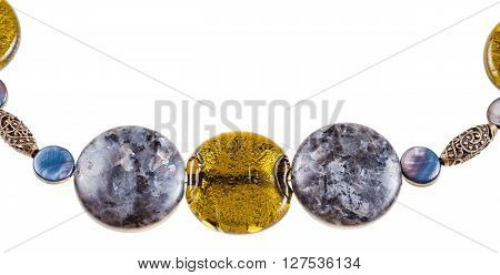 Labradorite Gemstone And Colored Glass Beads
