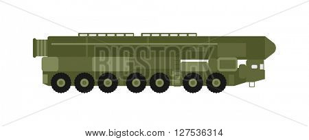 Military rocket launcher vector illustration.