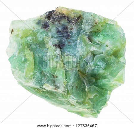 Crystal Of Green Opal Gemstone Isolated