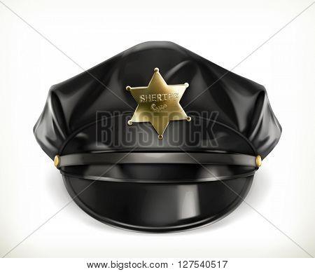 Peaked cap, vector icon
