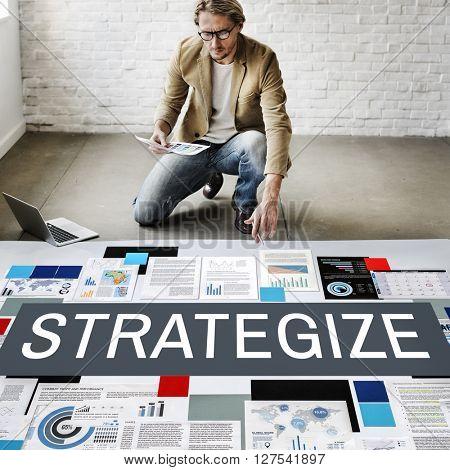 Strategy Strategize Strategic Tactics Planning Concept