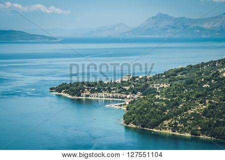 A coastal village of Podgora located o Makarska Riviera, Croatia