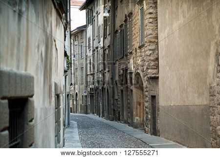 photo of Via Arena in Bergamo a town near lake Como
