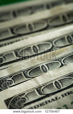 Close-up of a $100 banknotes