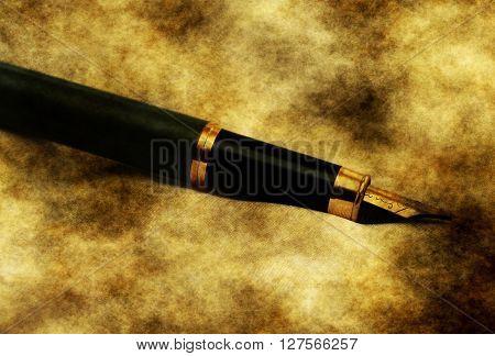 Fountain Pen Grunge Concept