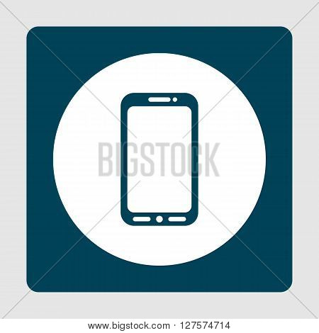 Cellphone Icon In Vector Format. Premium Quality Cellphone Symbol. Web Graphic Cellphone Sign On Blu