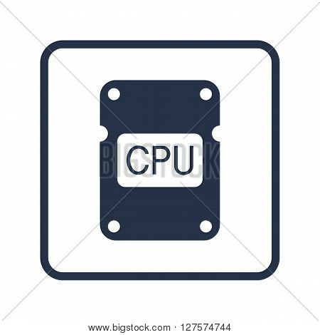 Cpu Icon In Vector Format. Premium Quality Cpu Symbol. Web Graphic Cpu Sign On Blue Round Background